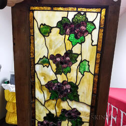 Grapevine Stained Glass Transom Panel