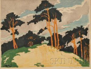Eva Maria Marcus (German, 1889-1970)      View of a Pine Forest, c. 1910