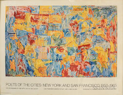 Jasper Johns (American, b. 1930)      Poets of the Cities: New York and San Francisco, 1950-1965 (Map 1)