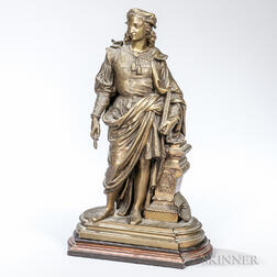 After Duchoiselle (French, 19th Century)      Bronze Figure of an Artist