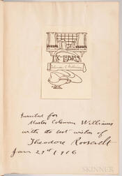 Roosevelt, Theodore (1858-1919) Through the Brazilian Wilderness  , First Edition, Signed and Inscribed.