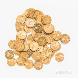 Seventy-eight $2.50 Liberty and Indian Head Gold Coins.     Estimate $12,000-15,000