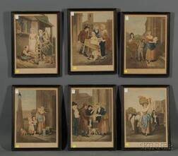 After Francis Wheatley (British, 1747-1801)      Set of Thirteen Images from Cries of London