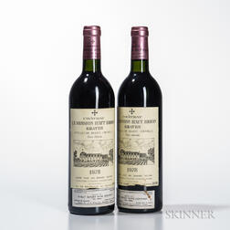 Chateau La Mission Haut Brion 1978, 2 bottles