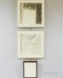 Three Works on Paper:      Jill Weber (American, 20th/21st Century), Space-Time Frame I