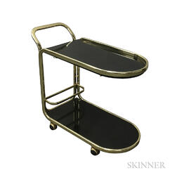 Brass and Laminate Bar Cart