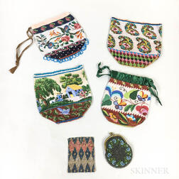 Six Beaded Bags.     Estimate $150-250