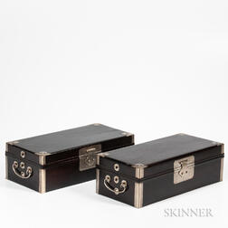 Pair of Zitan Document Boxes