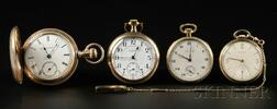 Four Gold-filled Gentleman's Pocket Watches