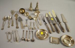 Group of Miscellaneous Silver Flatware and Serving Items