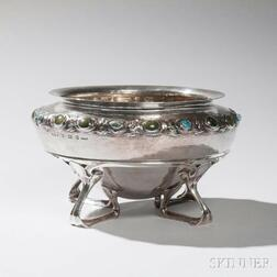 "Liberty & Co. ""Cymric"" Sterling Silver Bowl on Stand"