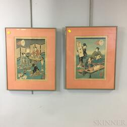 Two Woodblock Prints