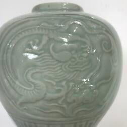 Celadon-glazed Jar