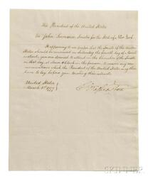 Washington, George (1732-1799) Circular Letter Signed as President, Philadelphia, 1 March 1797.
