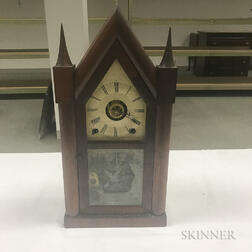 "Terry & Andrews ""Sharp Gothic"" or ""Steeple"" Mantel Clock"