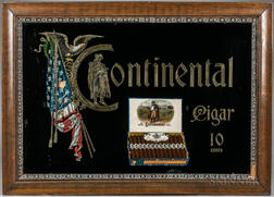 """Continental"" Cigar Advertising Sign"