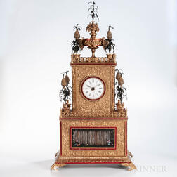 Chinese Cast Brass Automaton Shelf Clock