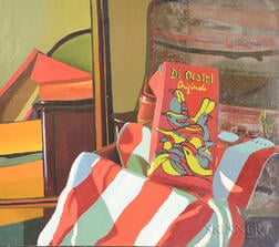 Richard Sheehan (American, 1953-2006)      Still Life with Di Orsini Originals Shoe Box