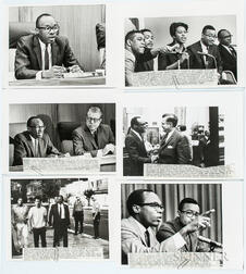 Thirty-seven Press Photographs of Willie Brown.