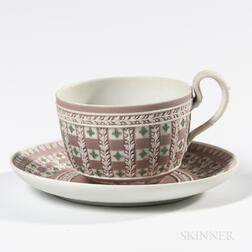 Wedgwood Tricolor Jasper Dip Diceware Cup and Saucer
