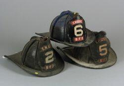 Three Cairns & Brother Firefighter's Helmets
