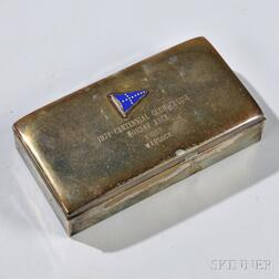 Silver-plated Centennial Club Presentation Cigarette Box