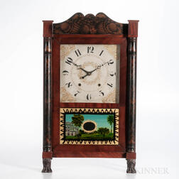 Sedgwick & Botsford Stenciled Column and Splat Shelf Clock