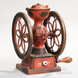 Enterprise Manufacturing Company Paint-decorated Cast Iron Coffee Mill