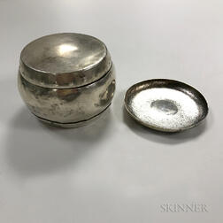 Two Small Chinese Export Silver Items