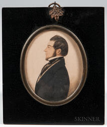 American School, Early 19th Century      Profile Portrait of a Gentleman