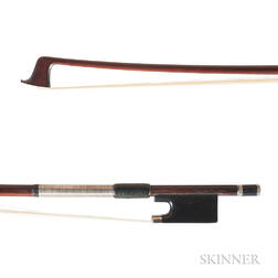 Silver-mounted Violin Bow, Attributed to H.R. Pfretzschner