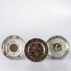 Three Wedgwood Lustre Plates
