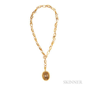 Victorian Gold Locket and Chain