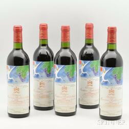 Chateau Mouton Rothschild 1982, 5 bottles