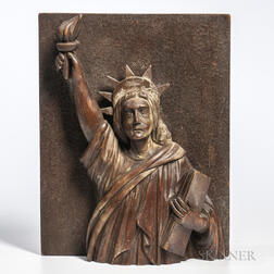 Carved Bust of the Statue of Liberty