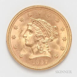 1857 $2.50 Liberty Head Gold Coin