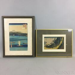 Two Hiroshige Woodblock Prints