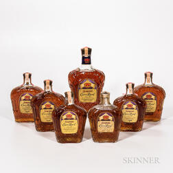 Crown Royal, 1 1/2 gallon bottle 4 quart bottles 1 4/5 quart bottle 1 25oz bottle Spirits cannot be shipped. Please see http://bit.l...