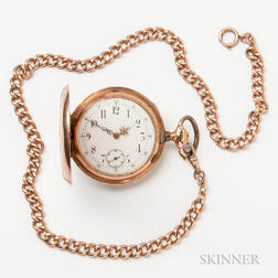 14kt Gold Pocket Watch and Watch Chain