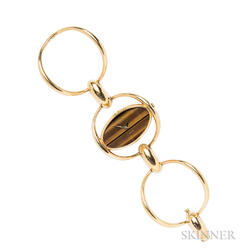 18kt Gold and Tiger's-eye Quartz Wristwatch, Chopard