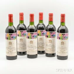 Chateau Mouton Rothschild 1975, 6 bottles