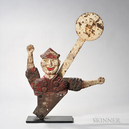 Cast Iron Painted Clown Shooting Gallery Target