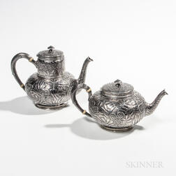 Gorham Sterling Silver Tea and Coffeepot