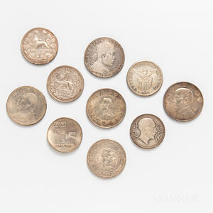 Small Group of Silver World Coins