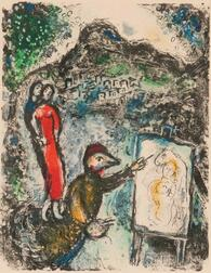 Marc Chagall (Russian/French, 1887-1985)      Devant Saint-Jeannet