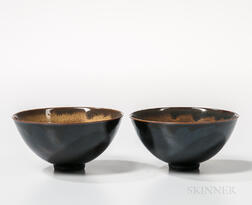 Two Black-glazed Bowls