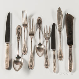 German .800 Silver Flatware Service