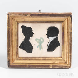 Pair of Silhouette Portraits, Reportedly Henry and Elizabeth Ditman