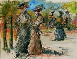 Isaac Lazarus Israels (Dutch, 1865-1934)    In the Park