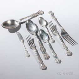 """Sixty-three Pieces of Tiffany & Co. """"English King"""" Pattern Sterling Silver Flatware"""